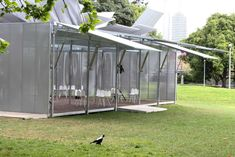 The MPavilion in Queen Victoria Gardens, Melbourne, Sean Godsell Architects