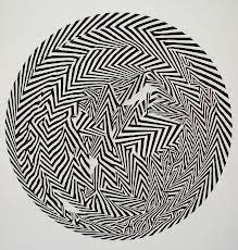 Bridget Riley is a British artist. Around 1960 she began to develop her signature Op Art style consisting of black and white geometric patterns that explore the dynamism of sight and produce a disorienting effect on the eye. Art Optical, Optical Illusions, Bridget Riley Op Art, Hayward Gallery, Kinetic Art, New Museum, Pics Art, Deco, Art Lessons