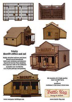 Building plans for old western town buldings Westerns, Old Western Towns, Old West Town, Western Saloon, Putz Houses, Le Far West, 3d Prints, Miniature Houses, Old Buildings