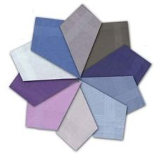 12 Mouchoirs Bordés en Satin Teint pour Hommes 100% coton
