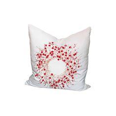 Xia Home Fashions Holiday Berry Wreath Throw Pillow & Reviews | Wayfair