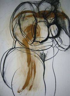 Drawing by Carmel Jenkin Keep Abreast, charcoal and acrylic on paper, 81cm x 57cm