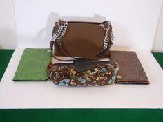 Miche Classic Brown Base Hand Bag- Purse w/ Chain Straps & 3 Covers  #Miche #Classic