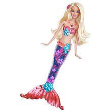 Barbie Sparkle Lights Mermaid Doll - Blonde