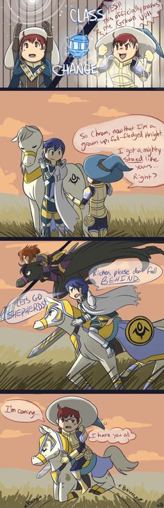 FE-Ponytail by Kilala04 on DeviantArt <-- anyone going to point out the cutiemark on Chrom's horse! XD