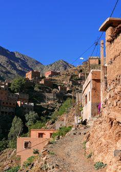 Z GÓRAMI W TLE: Imlil. Nie tylko Toubkal, czyli trekking w Atlasie Wysokim - część druga - przełęcz Tizi n'Mzik Trekking, Atlas Mountains, Morocco, Grand Canyon, Nature, Travel, Europe, Naturaleza, Viajes
