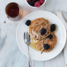 Make classic light and fluffy pancakes vegan with this easy recipe. Try them topped with your favorite nut butter, maple syrup and fresh berries for a satisfying breakfast.
