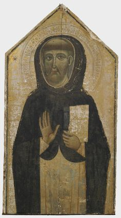 The oldest surviving portrait of St. Dominic, painted in Siena c. 1240, now rests in Harvard's Fogg Museum.  The founder of the Dominican order died in 1221, so the painting may well have been made by one of his contemporaries.