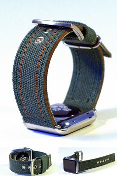 Apple Watch Strap Handmade Vintage Olive. Made by DGanin