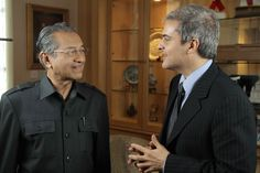 Prince Hicham El Alaoui with former Malaysian Prime Minister Mahathir Mohamad Mahathir Mohamad, Prime Minister, Whisper, Documentary, Prince, Bring It On, Hush Hush, The Documentary