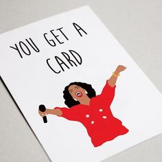 Happy Friday peeps! Here is an Oprah card that makes me laugh! Yes I laugh at my own jokes! Dont you?? YOU GET A CARD! YOU GET A CARD! EVERYBODY GETS A CARD!! 😂😂🙆♀️🙆♀️ . . . =========================== #oprah #yougetacard #happybirthday #birthdaycard #birthdaygift #igotyouagift #bestgift #sayitwithacard #etsy