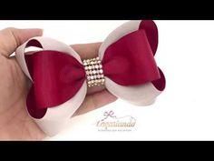 A bow of satin ribbon with your own hands DIY Svetlana Zolotareva Diy Hair Bows, Diy Bow, Diy Ribbon, Ribbon Hair, Ribbon Bows, Grosgrain Ribbon, Ribbons, Hair Bow Tutorial, Boutique Hair Bows