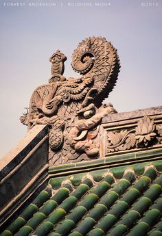 Roof detail, Beijing, China. Photo by Forrest Anderson. China photos by Forrest Anderson are available at rouviere.com.