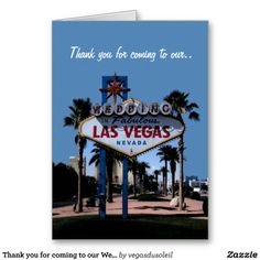 Thank you for coming to our Wedding Las Vegas Card