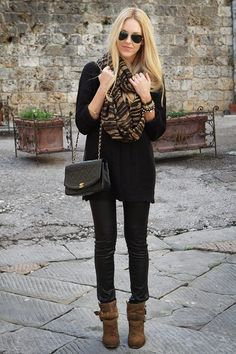 Outfit ideas: black and neutrals