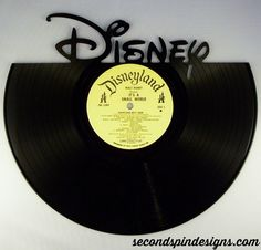 Hey, I found this really awesome Etsy listing at https://www.etsy.com/listing/211778699/recycled-vinyl-record-disney-wall-art
