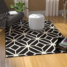 Zipcode Design Millville Polypropylene Black/White Area Rug Rug Size: Runner x White Area Rug, Beige Area Rugs, Washable Rugs, Indoor Outdoor Area Rugs, Outdoor Living, Power Loom, Porch Decorating, Colorful Rugs, Rug Size