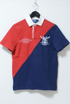 USED&VINTAGE POLO RALPH LAUREN ナンバリングポロシャツ NAVY/RED ¥2,160(TAX IN)