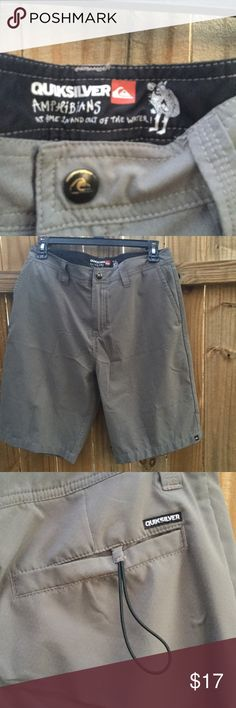 NWOT Quicksilver board shorts Size 30. Never been worn. Would be perfect to wear to church (no one can tell they are a bathing suit!), or school. Perfect so you don't Need to change after a trip to the beach or pool or water park. Quiksilver Shorts Hybrids