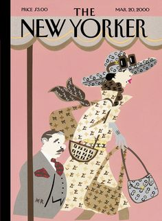 """The New Yorker - Monday, March 20, 2000 - Issue # 3882 - Vol. 76 - N° 4 - « Style Special » - Cover """"Logo, Oh, No!"""" by Michael Roberts"""