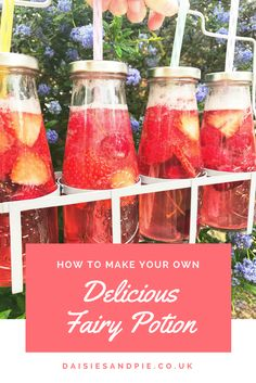 Delicious fairy potion drink, perfect for fairy themed birthday parties, unicorn or magic themes or just because it's a girly afternoon at home that needs pretty drinks.
