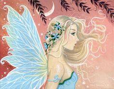 Fairy Art: Blue Twinkle by Artist Molly Harrison Fairy Music, Fairy Art, Unicorn And Fairies, Free Adult Coloring Pages, Fairytale Fantasies, Woodland Fairy, Love Fairy, Beautiful Fairies, Illustrations