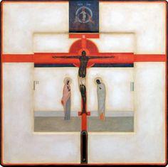 Crucifixion - Contemporary icon by Greta Leśko of Poland