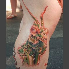Praying Mantis Tattoo | by cicadatattoos
