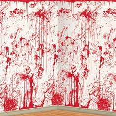 Bloody Knives Banner Zombie Murder Mystery Movie Night Halloween Birthday Party