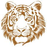 Tiger Stencil Royalty Free Stock Images