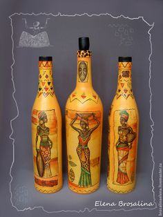 1 million+ Stunning Free Images to Use Anywhere Painted Glass Bottles, Glass Bottle Crafts, Wine Bottle Art, Diy Bottle, Bottles And Jars, Decorated Bottles, Altered Bottles, Recycled Bottles, Bottle Painting