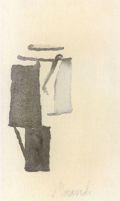 Giorgio Morandi (Italian, watercolours more on abstrakshun Still Life Artists, Gouache, Still Life Drawing, Artist Sketchbook, Italian Artist, Art For Art Sake, Watercolor And Ink, Artist Art, Painting & Drawing