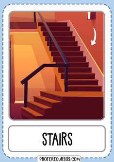 Flashcards For Toddlers, Preschool Worksheets, Activities For Kids, English Study, English Lessons, Learn English, Ingles Kids, Teachers Be Like, Parts Of Stairs