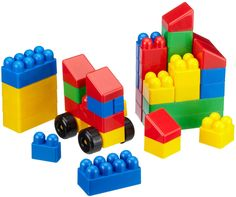 #Juego de bloques de construcción para #niños. Indicado para que desarrollen su #imaginación mientras juegan construyendo. #Niños #juegos #educación http://www.multididacticos.com