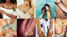 Beauty-Trend - Metallic-Tattoos zum Aufkleben
