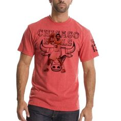 fb6616373 Mens Chicago Bulls Joakim Noah Red Chrome Name   Number T-Shirt
