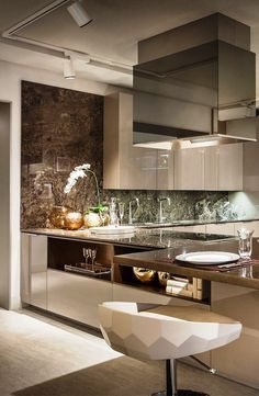 Contemporary Kitchen Ideas – Once you've settled on the choice to redesign your kitchen, the initial step is to assemble thoughts on what you need your new kitchen to resemble. You can get outline thoughts from a wide range of spots, and you can pick and pick particular plan thoughts from contrasting sources to make the kitchen you've generally needed for your home. #ContemporaryDIYInteriors