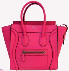 Celine micro luggage fluo pink