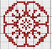 almost a tudor rose biscornu cross stitch punto de cruz point de croix chart Knitting Books, Knitting Charts, Knitting Stitches, Knitting Designs, Free Knitting, Knitting Patterns, Motif Fair Isle, Fair Isle Chart, Fair Isle Pattern