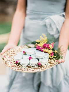 Vintage Platter with Macaroons.