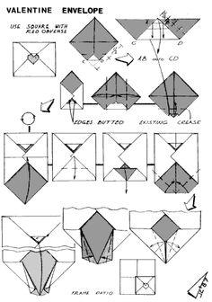 Envelope And Letter Folding Harlequin Envelope Origami