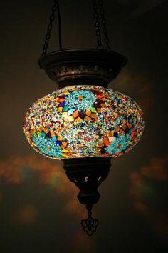 Handmade Mosaic Turkish Glass Lamp