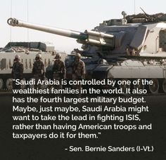 Yeah, right wing assholes, why should our kids have to go back there. Saudi Arabia shares a border with Iraq, let them fight ISIS/ISIL.