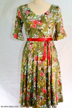 Summer Dress super easy free sewing pattern and tutorial Sizes 2-24.