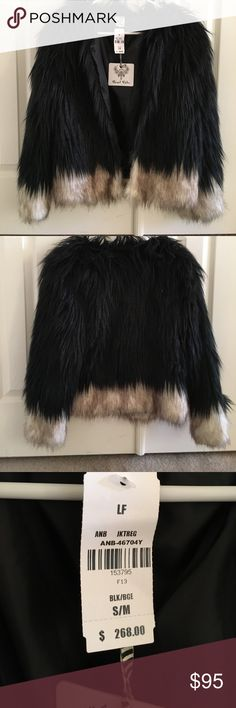 🎊🎊HOST PICK 🎊🎊 Beautiful faux fur jacket nwt Very soft and amazing jacket not very heavy perfect for fall nights on the town will turn heads!! S/M nwt it is LF!! If I don't sell it by the fall I will end up keeping it ! Angel Biba Jackets & Coats