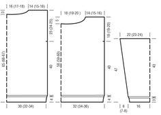 Схема и описание вязания на спицах джемпера с сетчатым узором из журнала «Вязание. Burda» №1/2015