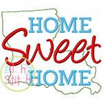 Home Sweet Home Louisiana Embroidery Design For by TheItch2Stitch