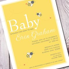 Janielle's Shower Invite...but with green background and different wording for Baby Beason!