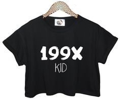 199X Kid Crop Top T Shirt Womens Fun Tumblr Swag Fashion Year Tank Indie Girl