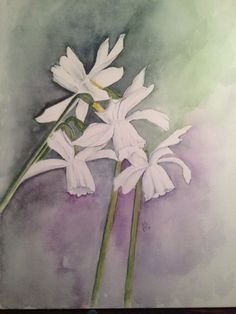 More spring Flower Art, Watercolor, Spring, Flowers, Painting, Pen And Wash, Art Floral, Watercolor Painting, Painting Art